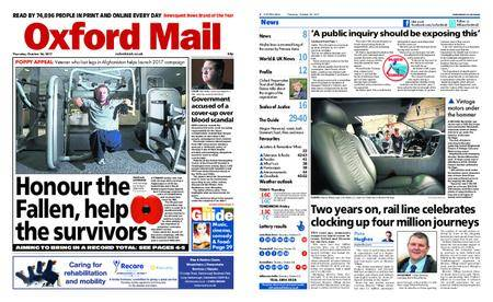 Oxford Mail – October 26, 2017