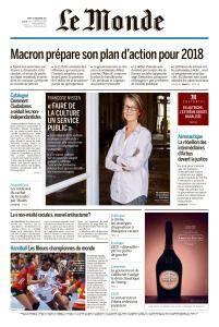 Le Monde du Mardi 19 Décembre 2017
