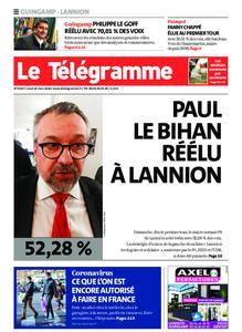 Le Télégramme Guingamp – 16 mars 2020