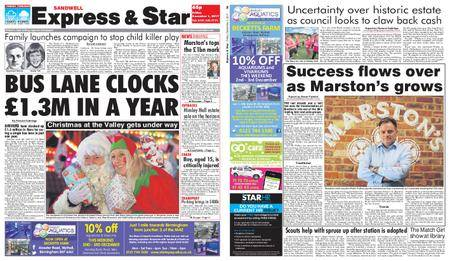 Express and Star Sandwell Edition – December 01, 2017