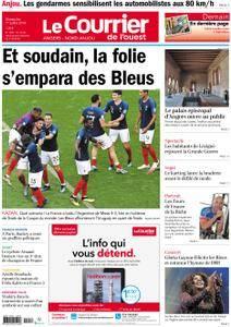 Le Courrier de l'Ouest Angers - 01 juillet 2018