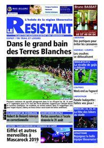 Le Journal Le Résistant - 24 août 2019