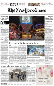 International New York Times - 20 March 2020