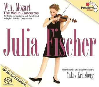 Julia Fischer - Mozart: The Violin Concertos, Sinfonia concertante in E flat, K.364, Adagio, Rondo, Concertone (2011)