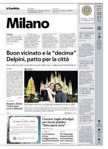 la Repubblica Milano - 7 Dicembre 2017