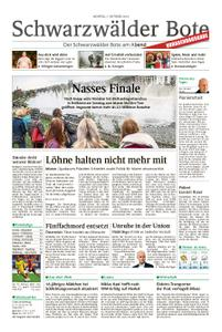 Schwarzwälder Bote St. Georgen, Triberg, Furtwangen - 07. Oktober 2019