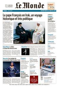 Le Monde du Dimanche 7 et Lundi 8 Mars 2021
