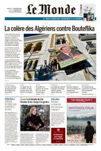 Le Monde du Dimanche 24 et Lundi 25 Février 2019