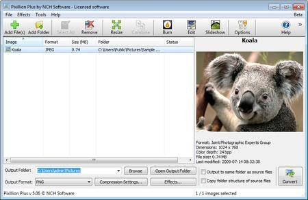 NCH Pixillion Image Converter Plus 6.06 Beta