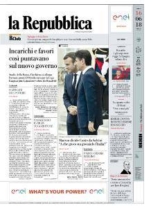 la Repubblica - 16 Giugno 2018
