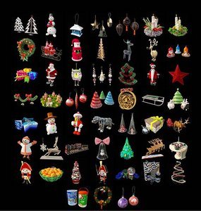 3D models pack for New Year