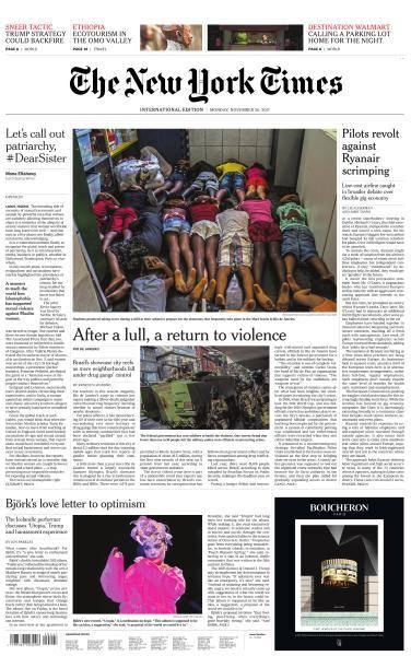 International New York Times - 20 November 2017