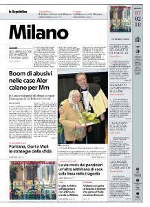 la Repubblica Milano - 7 Febbraio 2018