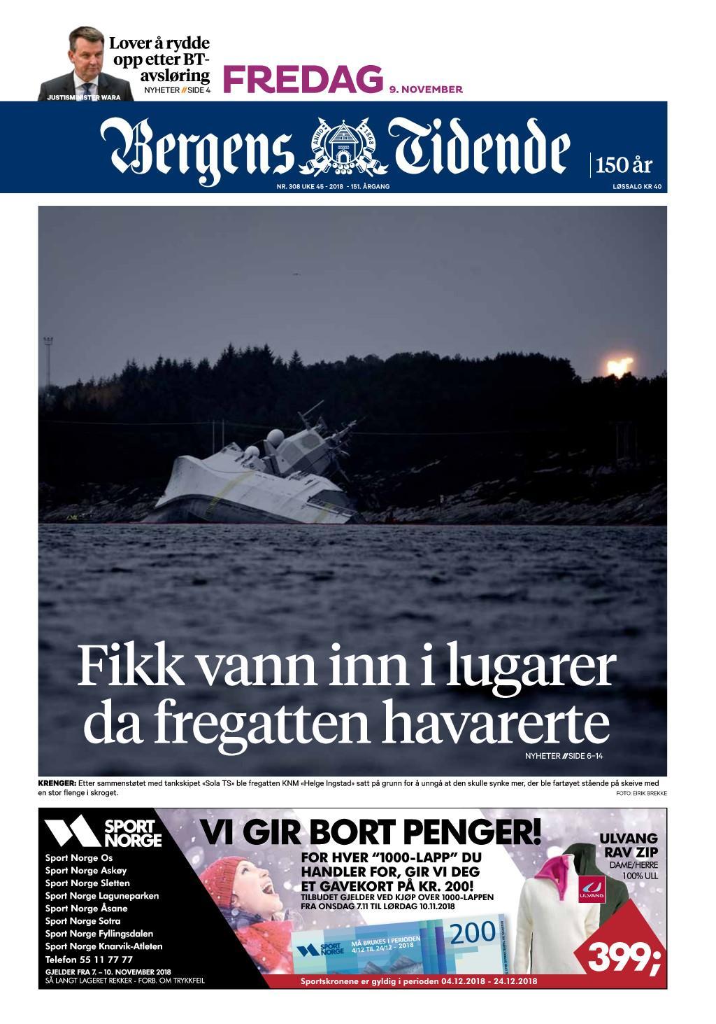 Bergens Tidende – 09. november 2018