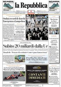 la Repubblica - 31 Agosto 2020