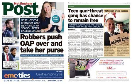 Nottingham Post – August 24, 2018