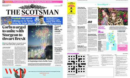 The Scotsman – November 19, 2018