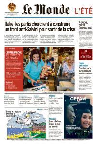 Le Monde du Jeudi 22 Août 2019