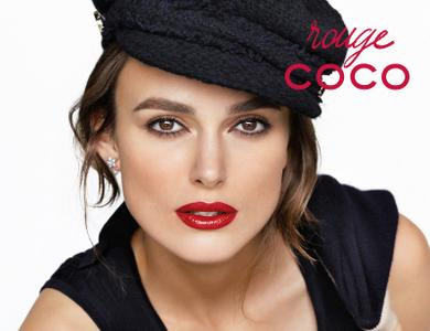 Keira Knightley by Mario Testino for CHANEL Rouge Coco Lipstick Campaign Spring/Summer 2015