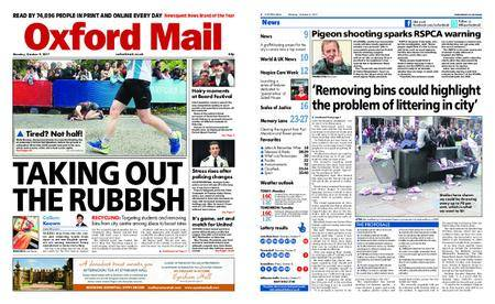 Oxford Mail – October 09, 2017