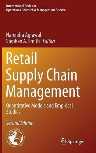 Retail Supply Chain Management: Quantitative Models and Empirical Studies (2nd edition) (Repost)