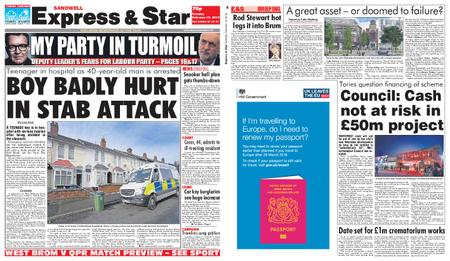 Express and Star Sandwell Edition – February 19, 2019