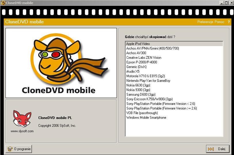 CloneDVD Mobile ver. 1.1.0.2 Beta