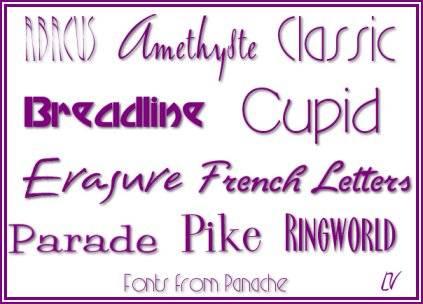 Panache Typography Fonts