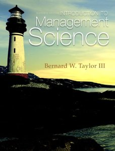 Introduction to Management Science, 11 edition (repost)