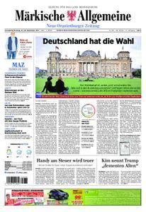 Neue Oranienburger Zeitung - 23. September 2017