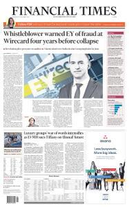 Financial Times Europe - September 30, 2020