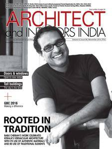 Architect and Interiors India - November 2016