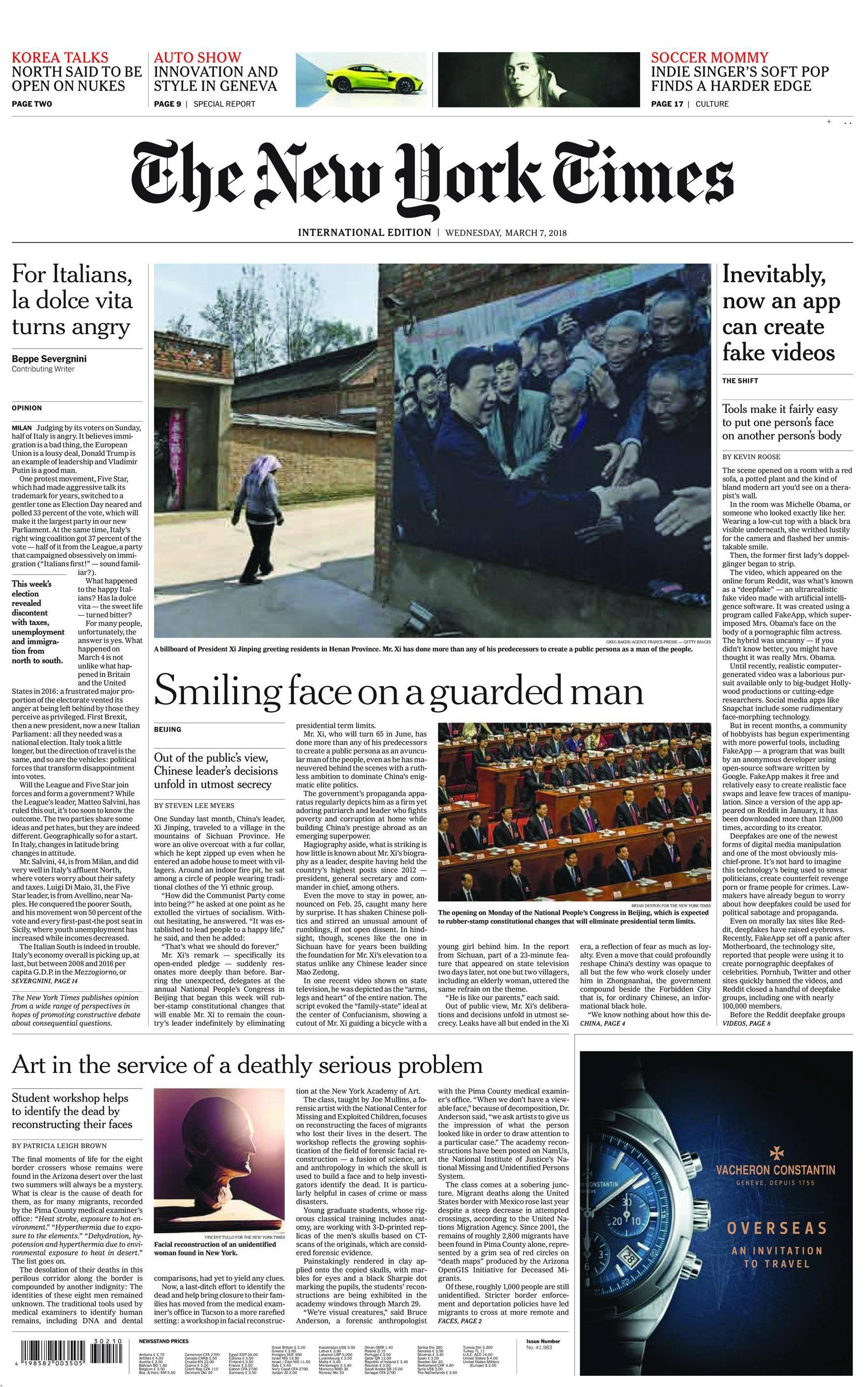 International New York Times - 07 March 2018