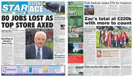 Shropshire Star Shrewsbury Edition – October 02, 2018