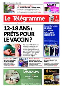 Le Télégramme Brest Abers Iroise – 14 juin 2021