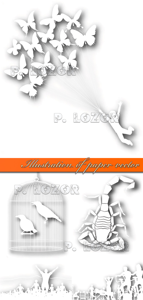 Illustration of paper vector