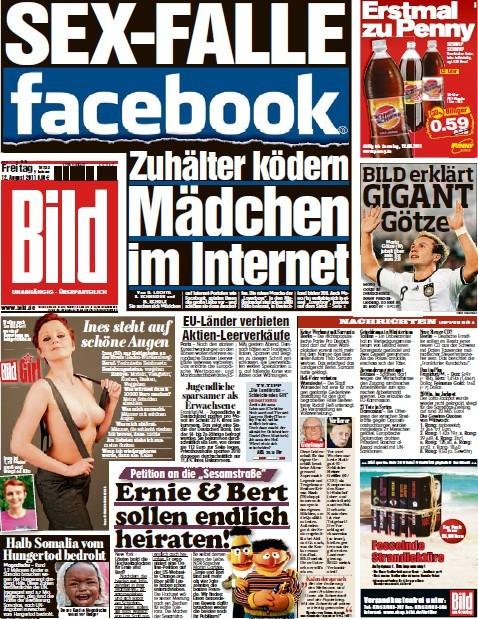 Bild Zeitung vom 12 August 2011