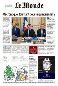 Le Monde du Mardi 11 Décembre 2018