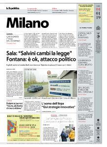 la Repubblica Milano - 4 Gennaio 2019