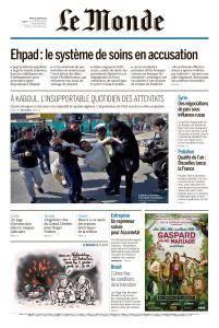 Le Monde du Mardi 30 Janvier 2018