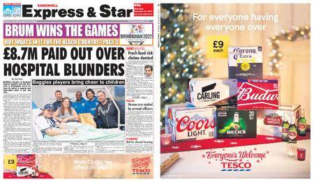 Express and Star Sandwell Edition – December 21, 2017