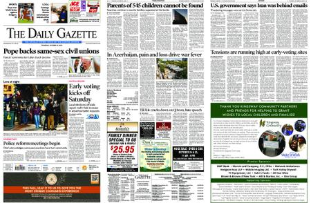 The Daily Gazette – October 22, 2020