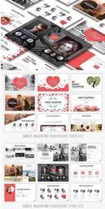 CreativeMarket - Sweet Valentine Powerpoint Template
