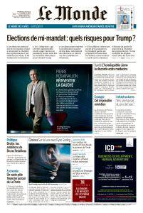 Le Monde du Vendredi 31 Août 2018