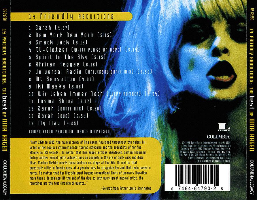 Nina Hagen - 14 Friendly Abductions: The Best Of Nina Hagen (1996) [Re-Up]