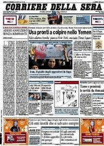 Il Corriere della Sera (31-12-09)