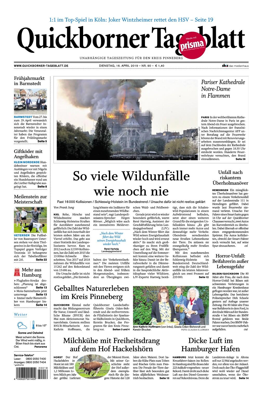 Quickborner Tageblatt - 16. April 2019