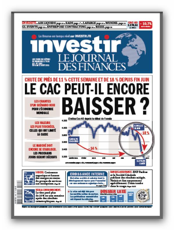 Investir N°1961 du 6 au 12 aout 2011