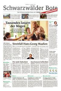 Schwarzwälder Bote St. Georgen, Triberg, Furtwangen - 19. August 2019