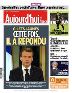 Aujourd'hui en France du Mardi 11 Décembre 2018